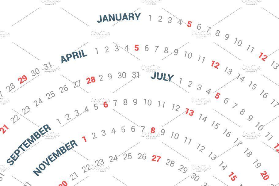 Ad Calendar 2020 Spiral Vector Design By Ctrl A Studio On
