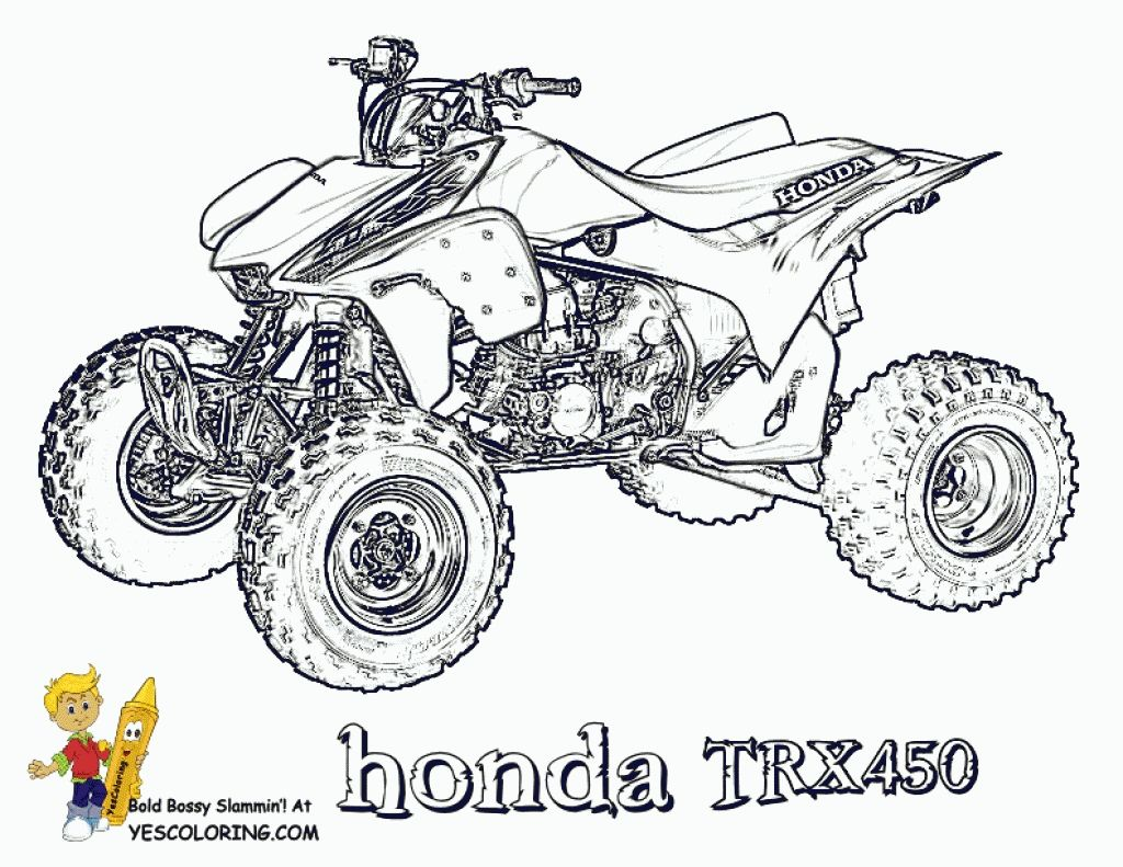 4 wheeler printable clipart kid regarding four coloring pages with clip art [ 1024 x 791 Pixel ]