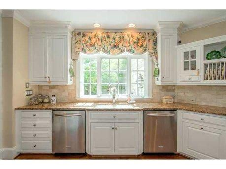 Kitchen Windows Above Sink Wood Valance Over Kitchen Sink For The
