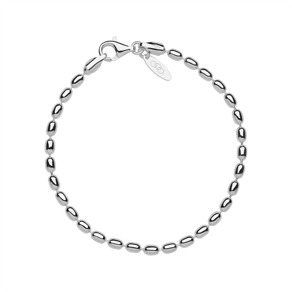 "718e311fe84d Links of London Womens Essentials Oval Ball Chain Bracelet 7.5"" Sterling  Silver"