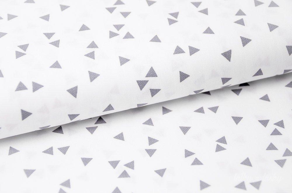 3f74def4266e Bavlnená látka metráž biele trojuholníky
