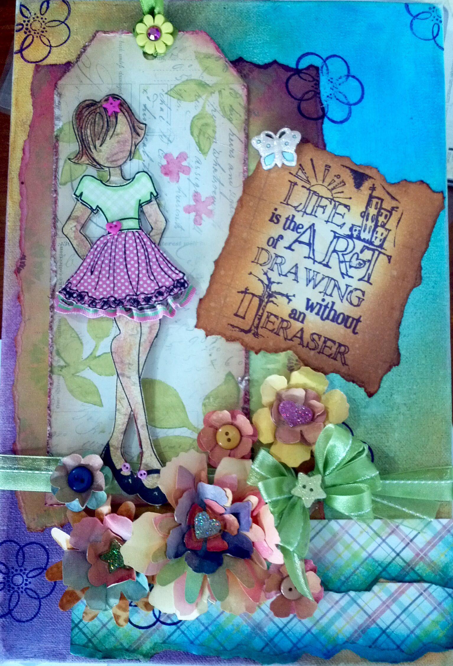 Prima doll canvas. Visit Facebook Novelerias Manualidades Luna