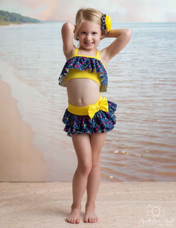 3556a7262d4 Flapper Bikini in Victory Garden (Size 2-7) ***MARKDOWN***. Kids Swimwear  ...