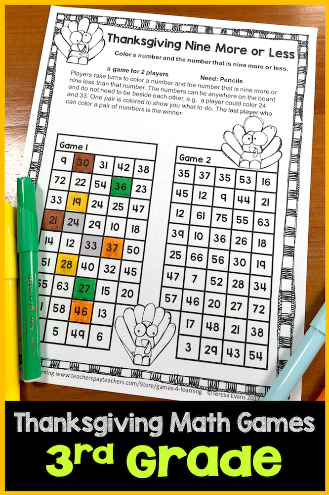 Excellent Printable Math Games 3rd Grade Pictures Inspiration ...