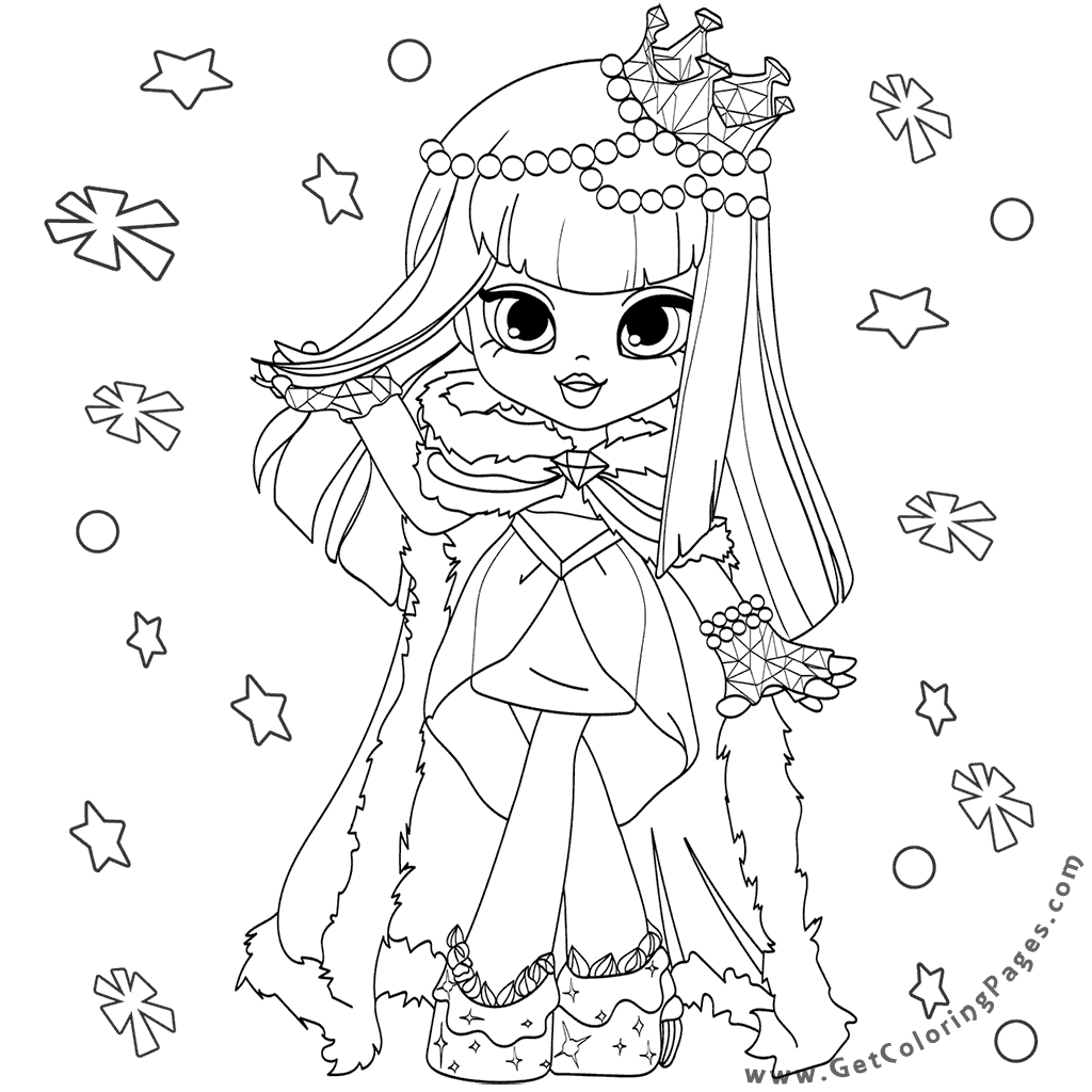 Shopkins Human Coloring Pages