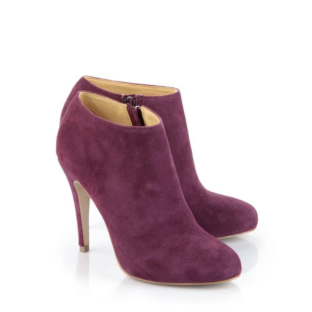 Buffalo Damen Ankle Boots Wildleder bordeaux-farben 40 Neu 111 ...