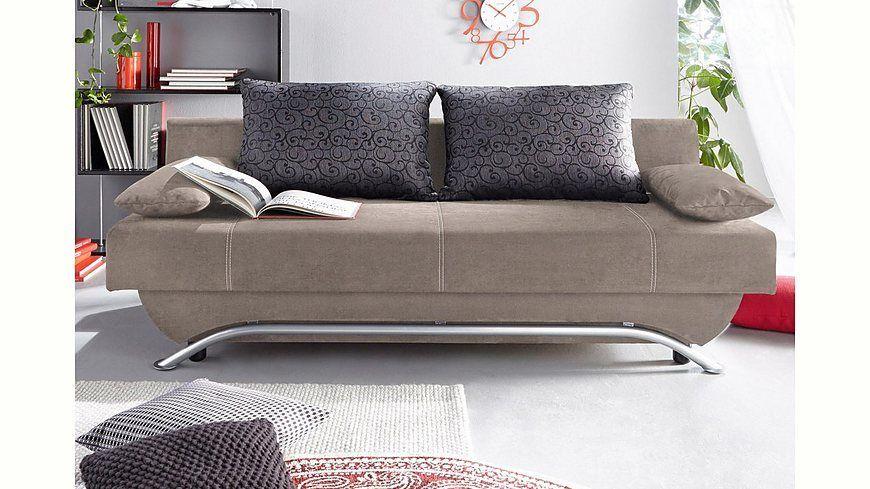 Schlafsofa, wahlweise mit Federkern und Matratzenauflage Jetzt - wohnzimmer sofa braun
