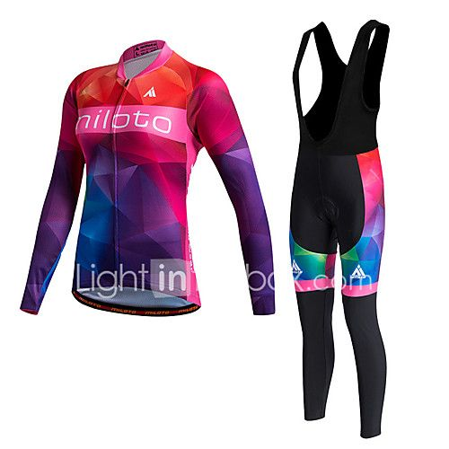 Miloto Cycling Jersey with Bib Tights Women s Long Sleeves Bike Sweater Fleece  Jackets Compression Clothing Tights Clothing Suits Thermal 2017 -  44.99 32272adf8