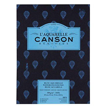 Canson L Aquarelle Heritage Watercolor Pad 9in X 12in Rough