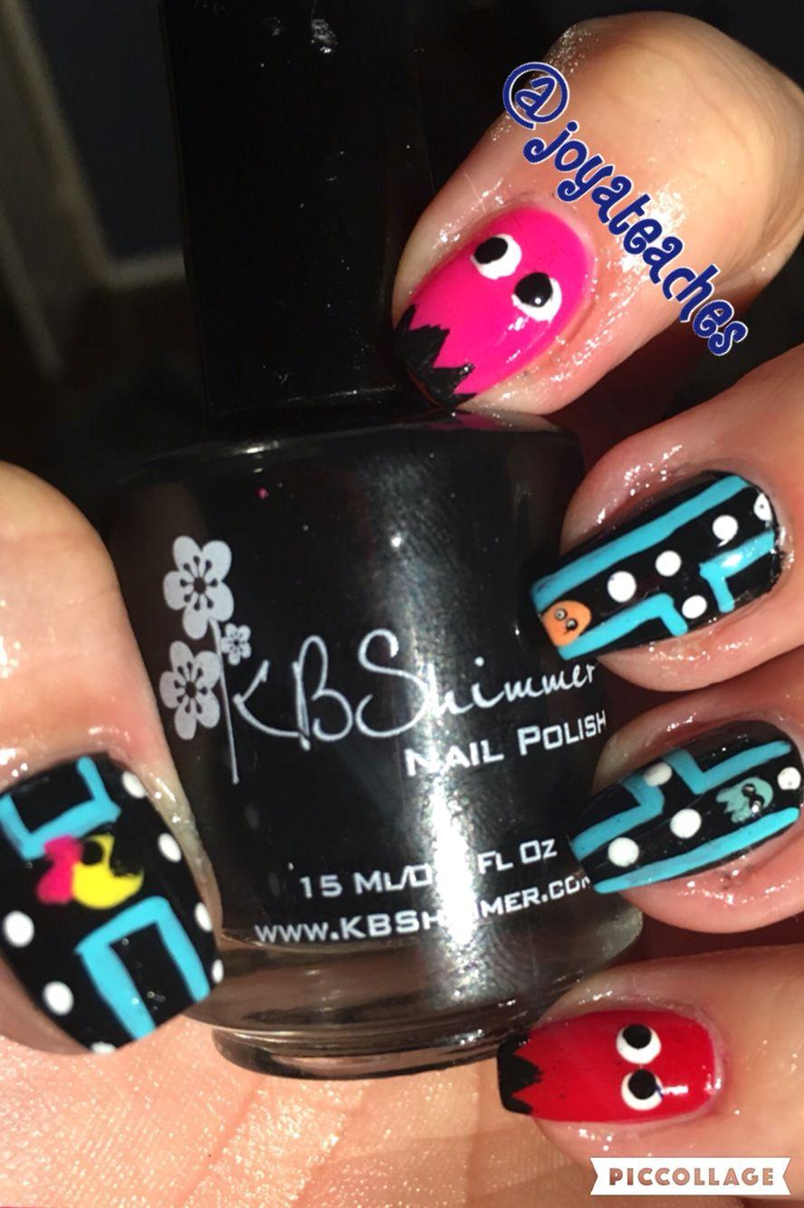 Pacman Gamer Nail Art Pinterest