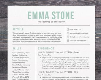 Resume Templates For Word Free Delectable Sale Creative Resume Template Modern Design Mac Or Pc Word Free .