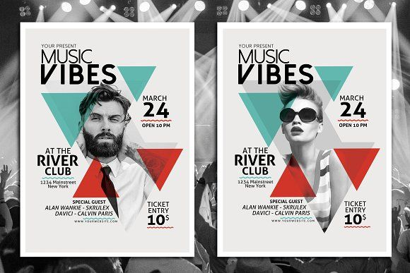 Minimal Music Flyer Template Flyer template, Flyers and Music flyer - music flyer template
