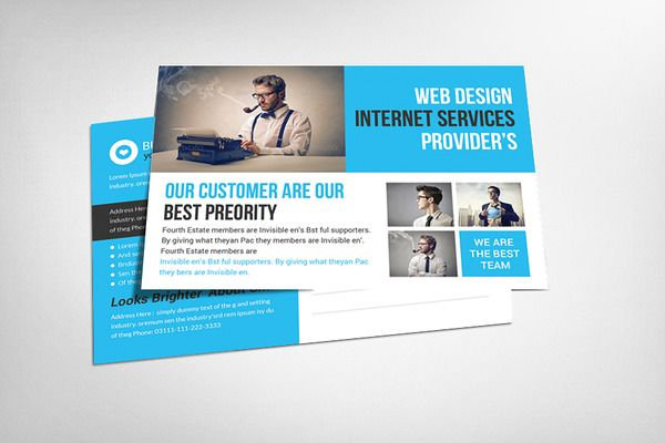 Business solution postcard template creative market love business solution postcard template cheaphphosting Images