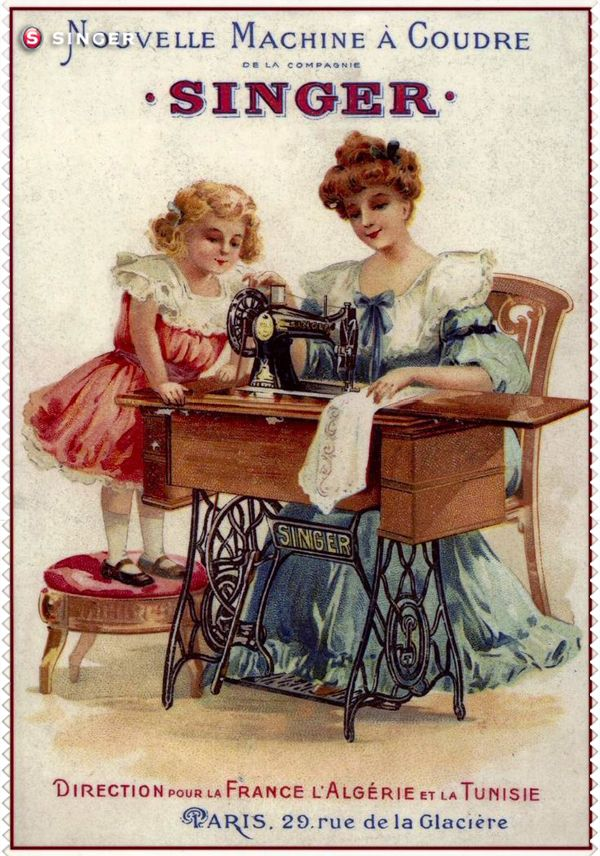 Are Singer sewing vintage ads for