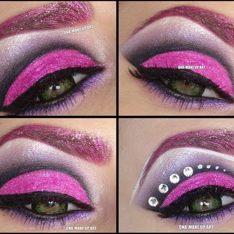 Various Shades Of Purple Pink Eye Shadow