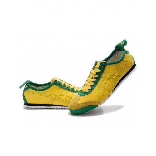 b8caa9150df9 2012 Asics Onitsuka Tiger MEXICO 66 LAUTA Mens Shoes Yellow Green ...