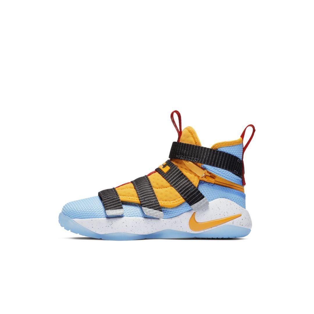 abb1a97df9b LeBron Soldier 11 FlyEase Little Kids  Shoe Size 13C (University Gold)