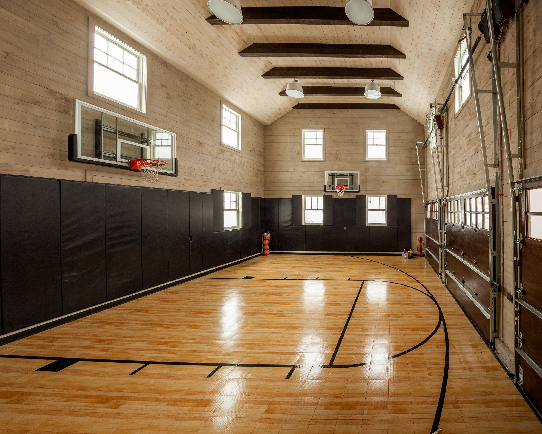 3 Car Garage Indoor Basketball Court Home Basketball Court Indoor Sports Court House And Home Magazine