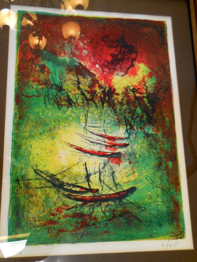 Hoi Lebadang Signed Numbered Vintage Lithograph Print 126/275 #Vintage