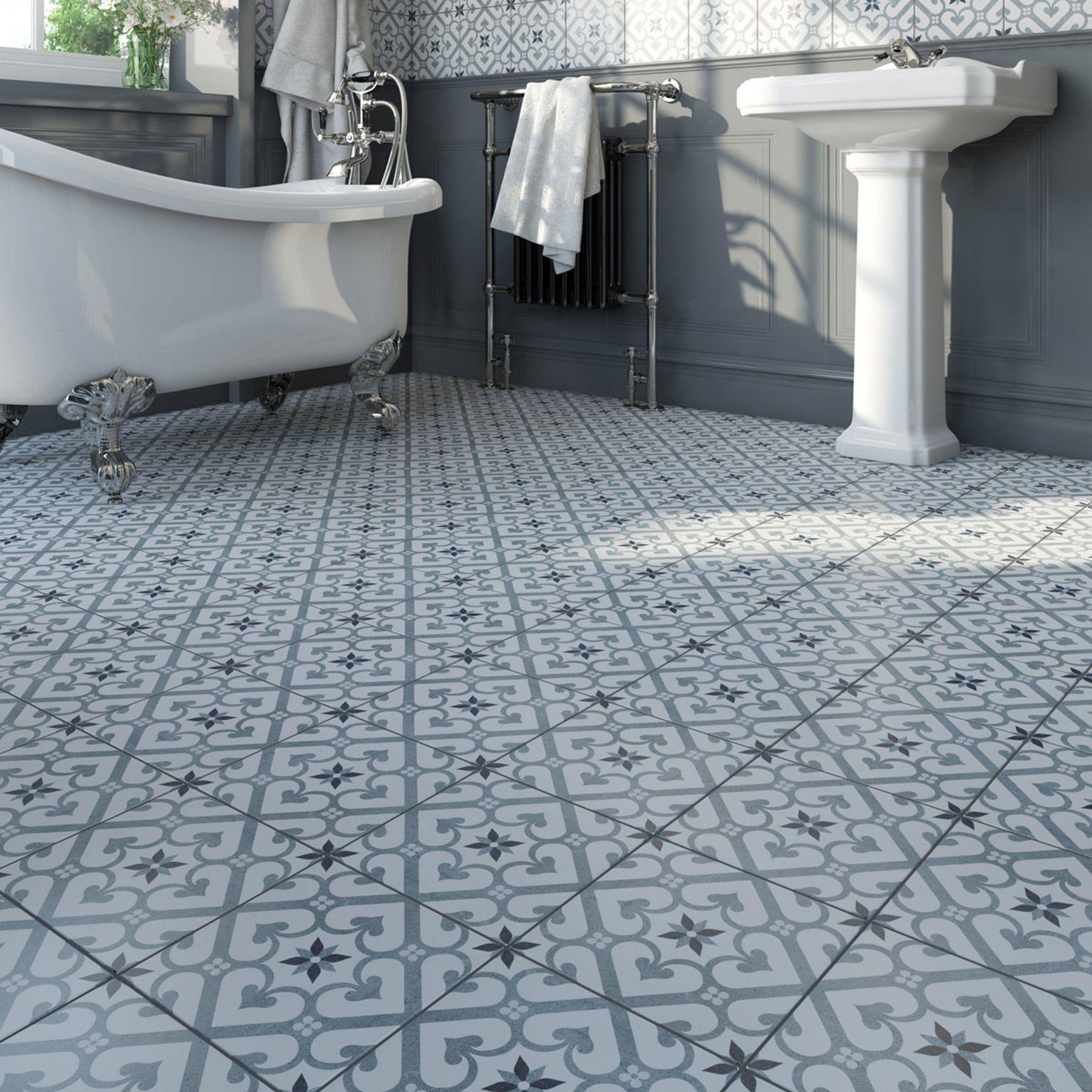 Lucena Flor Traditional Matt Wall And Floor Tile 450mm X