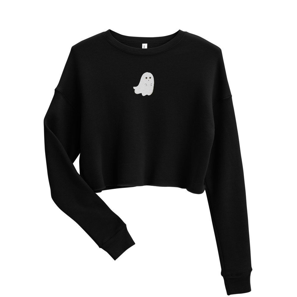 Ghost Cropped Sweatshirt Ghost Crop Top Halloween Ghost Crop Spooky Crop Top Cute Ghost Crop Top Ghost Sweat Sweatshirts Crop Sweatshirt Black Sweatshirts [ 1000 x 1000 Pixel ]