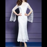 فساتين دانتيل فخمة 2019 Dresses Lace Dress White Formal Dress
