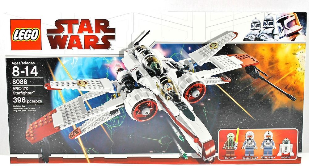NISB Lego Star Wars 8088 ARC-170 STARFIGHTER 4567485 Kit Fisto Capt ...