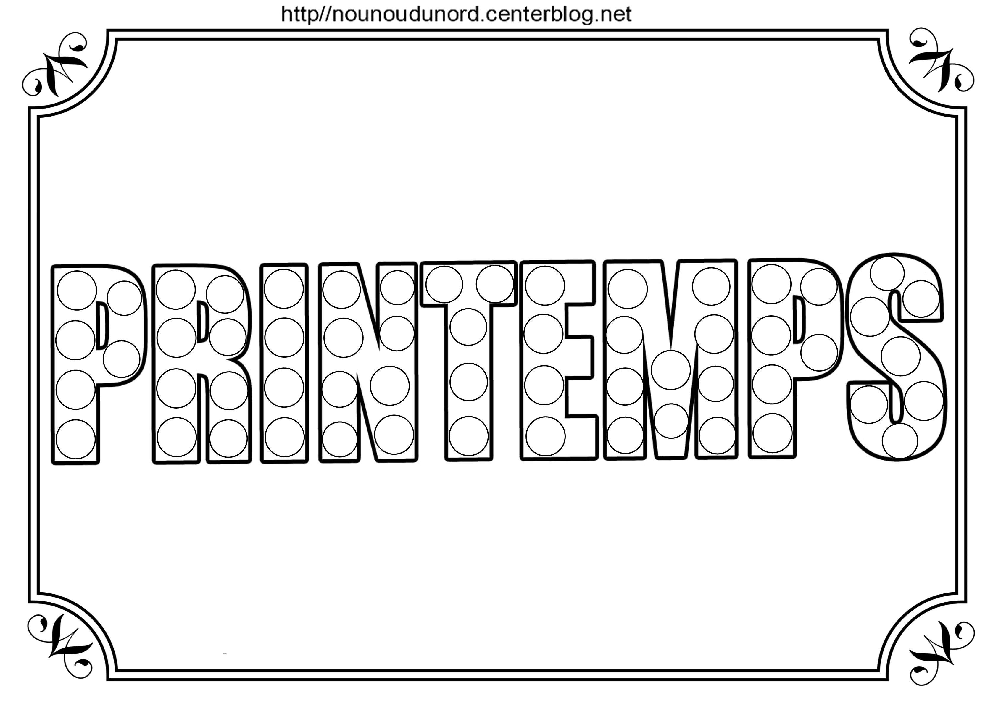 Printemps A Colorier A Gommettes Et En Couleur Gommette Colorier Printemps