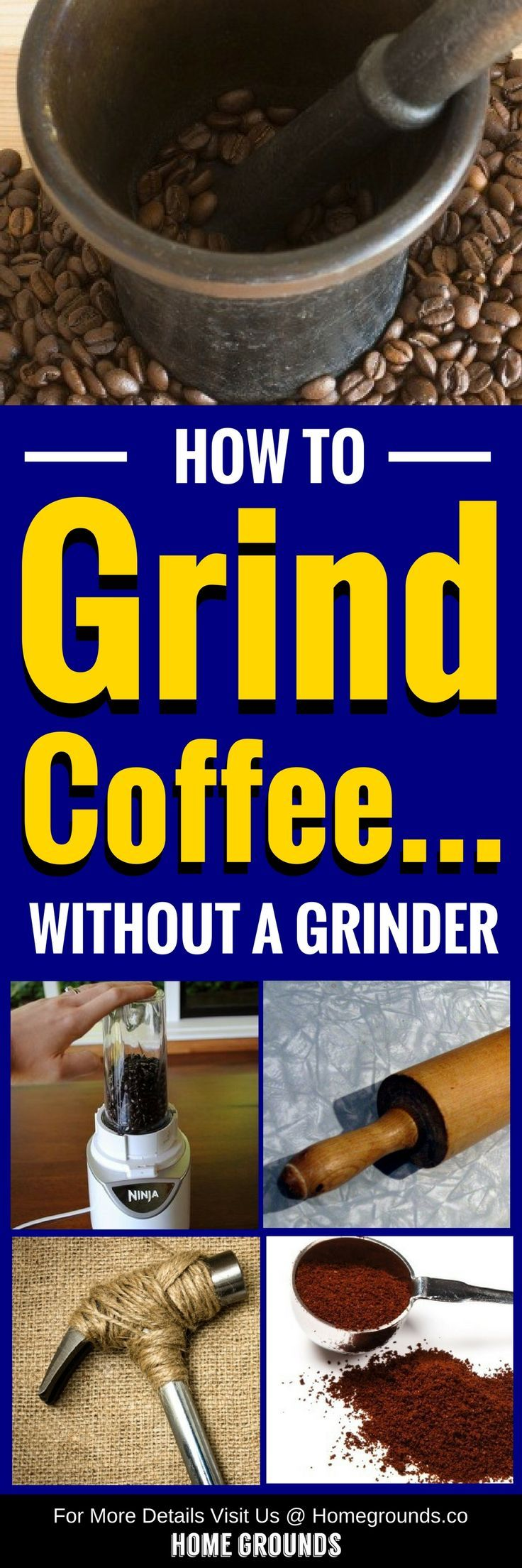 6 simple ways to grind coffee without a grinder