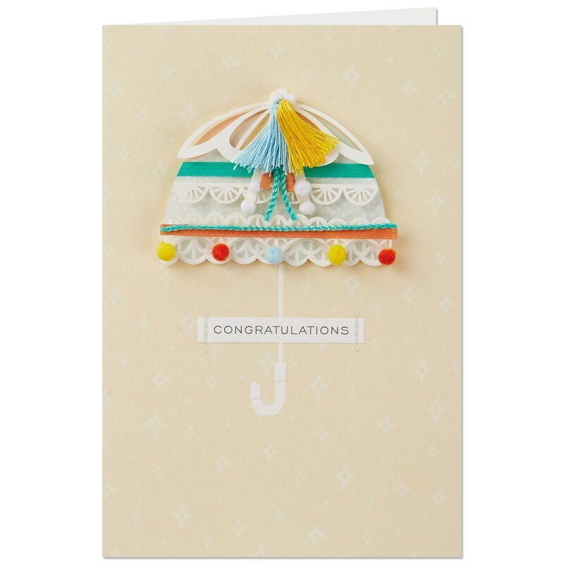 So Much Cuteness Umbrella Baby Shower Card