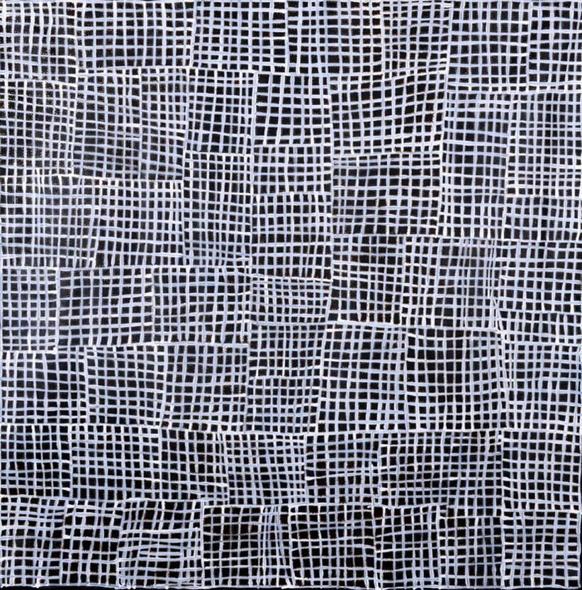 Abie Loy Kemarre, 'Body Painting' A11657 Size: 120 x 120cm, Acrylic on Linen @ Muk Muk Fine Art.