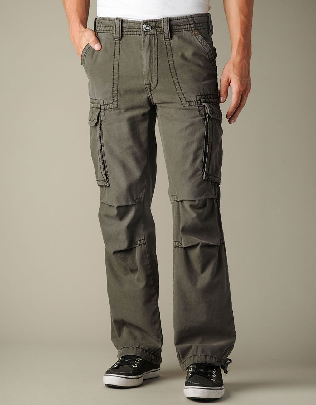 368fe061f Mens Anthony Brushed Twill Cargo Pants - (Army)