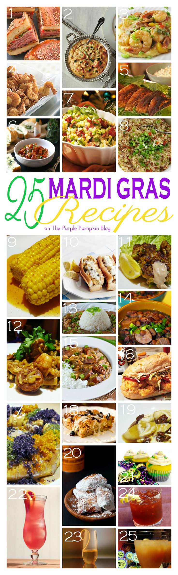 25 mardi gras recipes | mardi gras party ideas | pinterest | mardi