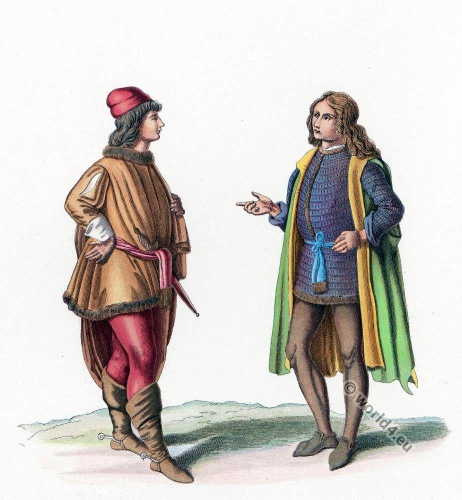 ad575c3092 Italian 14th and 15th century fashion history.