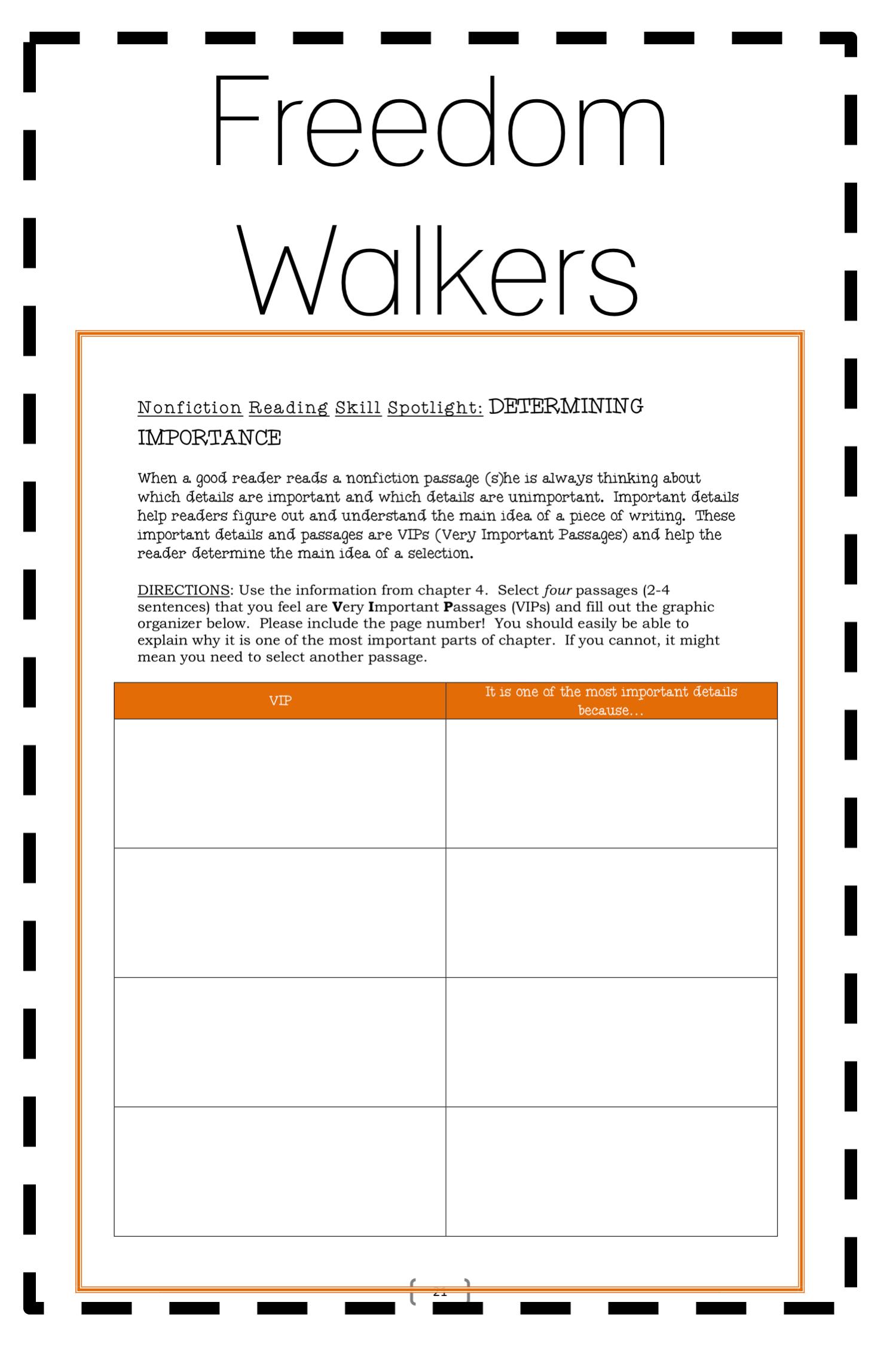 Freedom Walkers R Freedman Novel Study