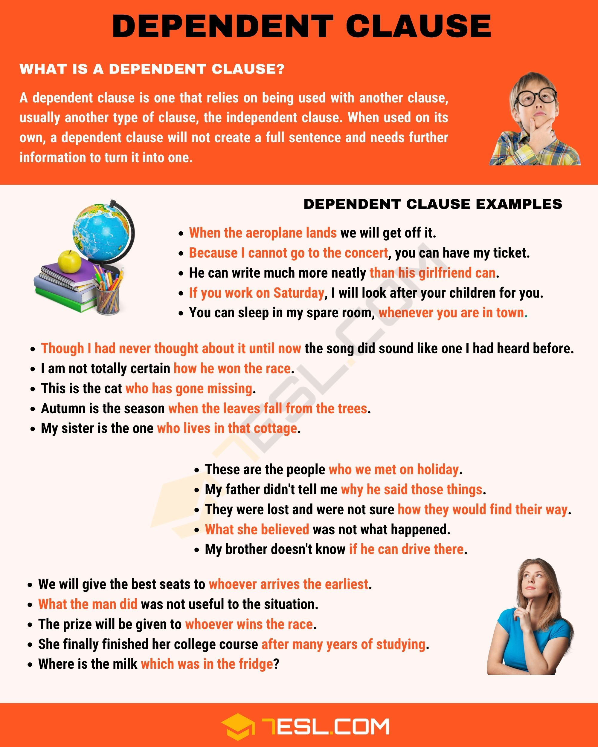 Dependent Clause Definition And Examples Of Dependent