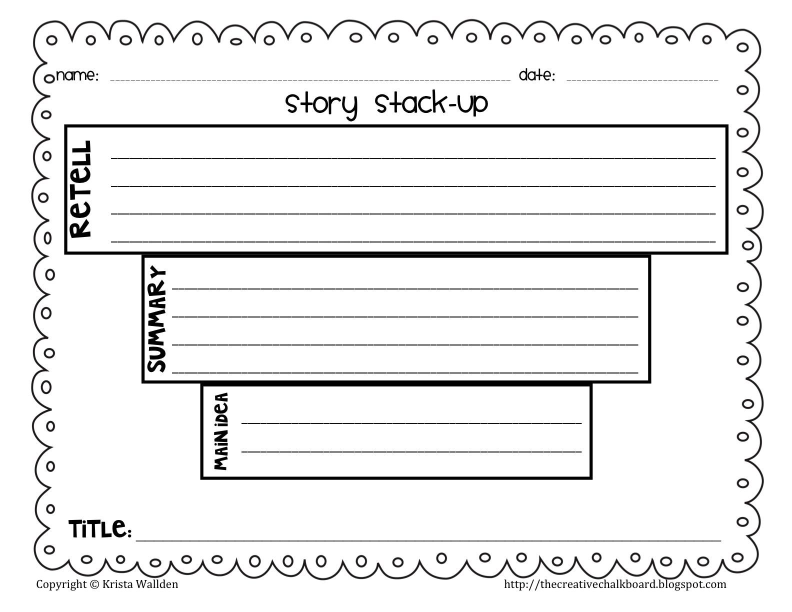 The Creative Chalkboard Day 1 Freebie Story Funnels For Retell Vs Summary