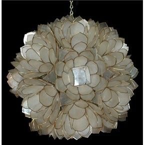45 wide capiz lotus flower chandelier 285 master bath 45 wide capiz lotus flower chandelier 285 aloadofball Images