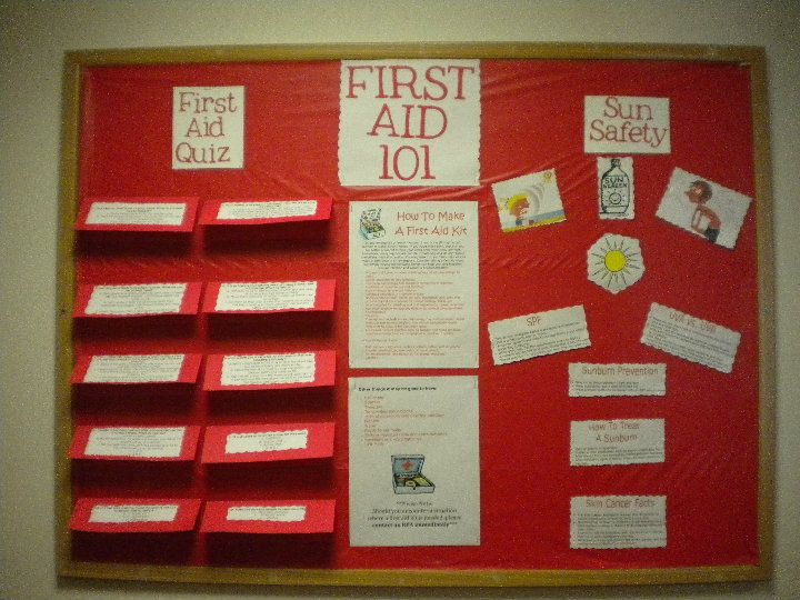 First Aid Bulletin Board Things Of My Own Bulletin Boards Res
