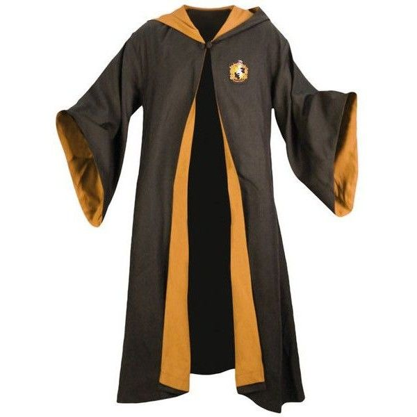 Hufflepuff Robes ❤ liked on Polyvore featuring intimates, robes ...