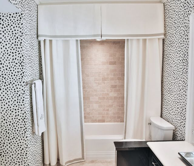 Design Crush Amy Berry Designs The Glam Pad Shower Curtain With Valance Modern Shower Curtains Double Shower Curtain