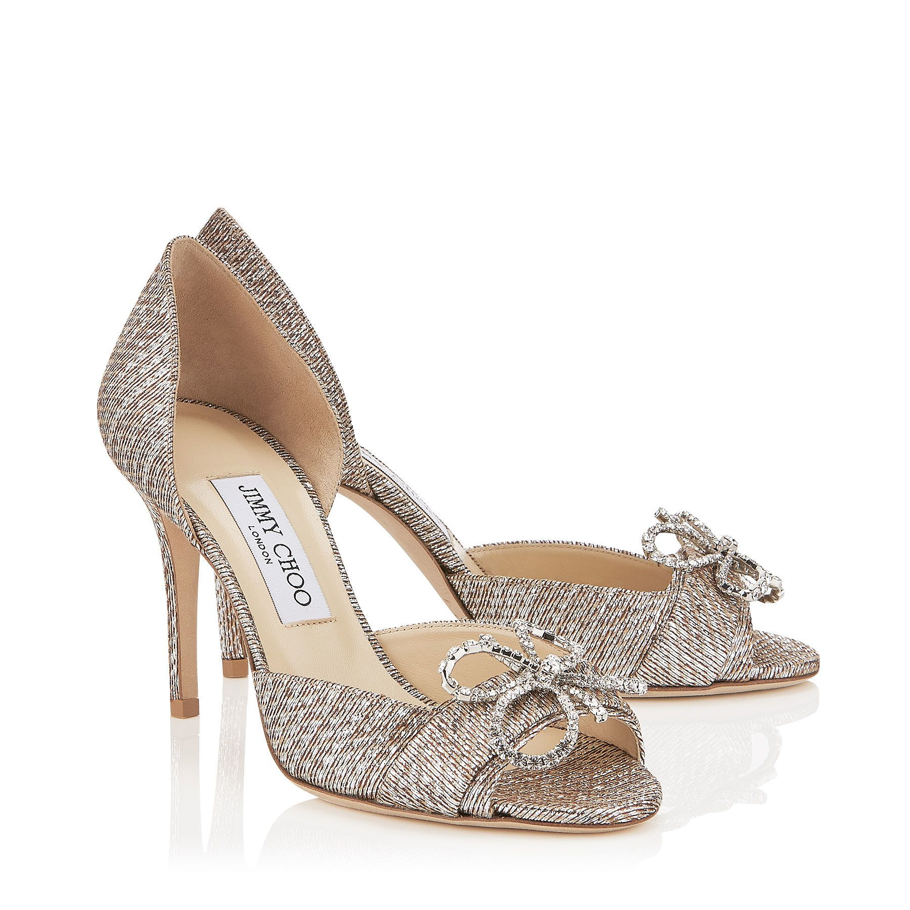 Jimmy Choo Metallic Bow Sandals pre order online outlet best latest collections online outlet online shop lKIZP2aa2