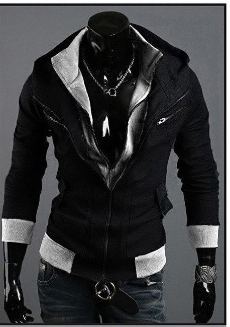 Assassins Creed Style Hoodie Double Layer   Mens fashion:__