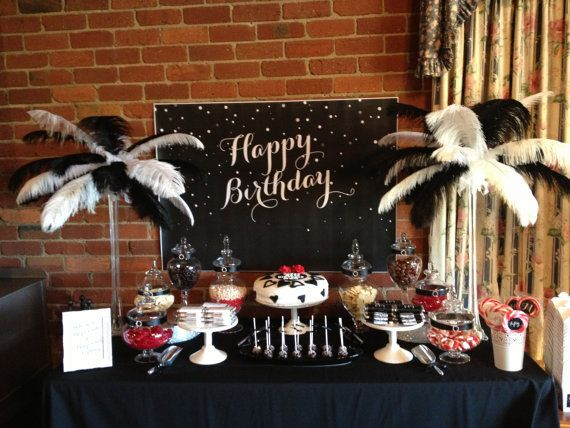 Black And White 50th Birthday Backdrop By LittleDimpleDesigns 2000