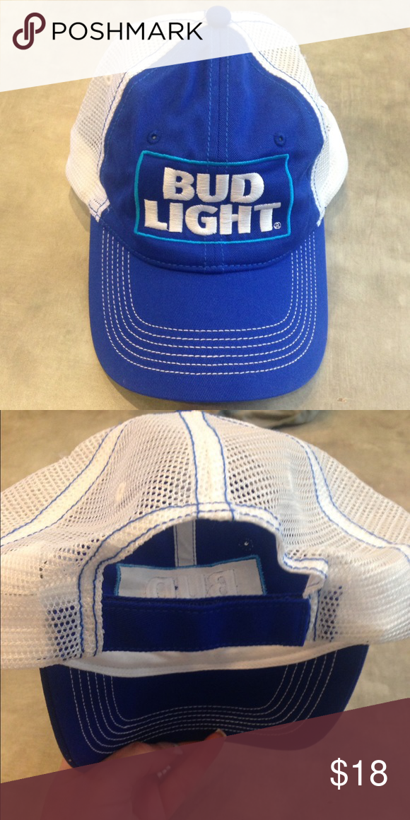 890a3d3c NWOT Bud Light Unisex Trucker Hat NWOT. Perfect condition. Bud Light  trucker hat with mesh back and adjustable velcro closure. Accessories Hats