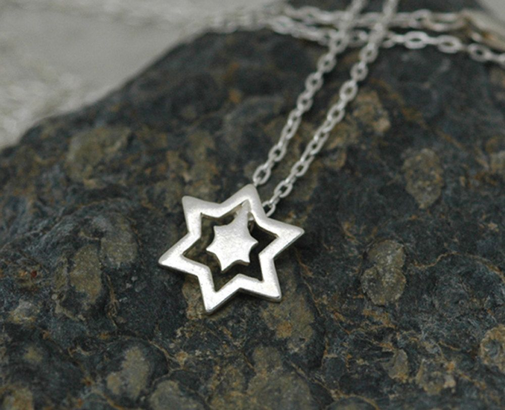 Star Explosion Necklace in Sterling Silver - Chain Included - Ready to Ship. $38.00, via Etsy.
