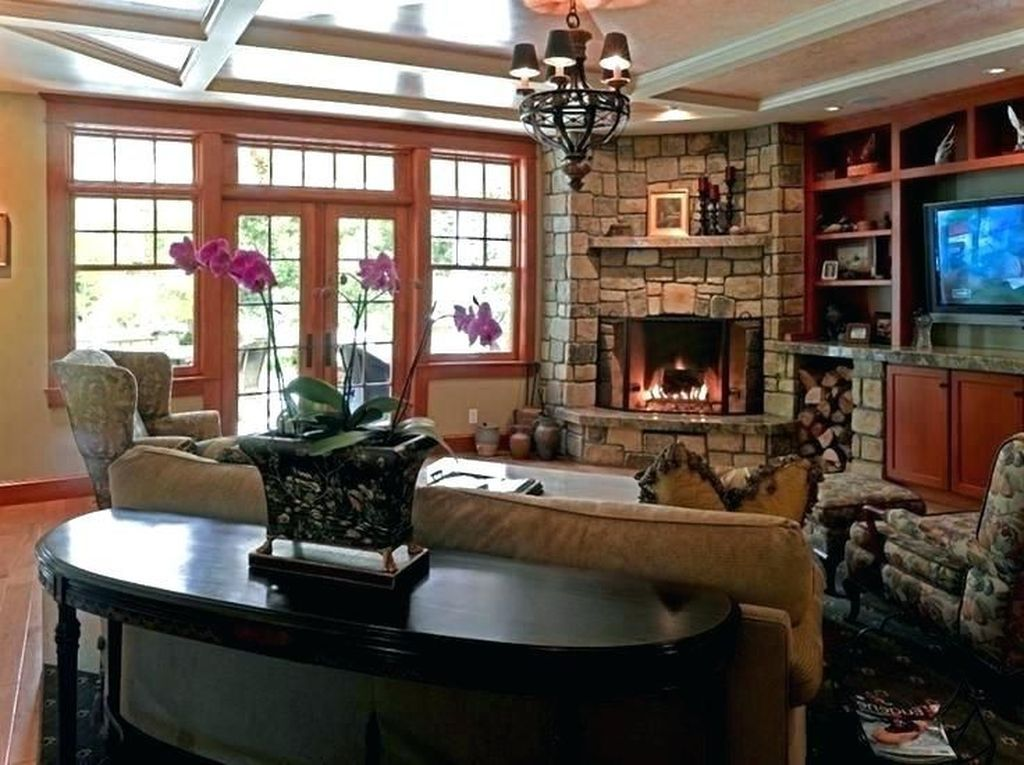 20 The Best Corner Fireplace Ideas For Your Living Room Corner Fireplace Living Room Livingroom Layout Fireplace Furniture Arrangement