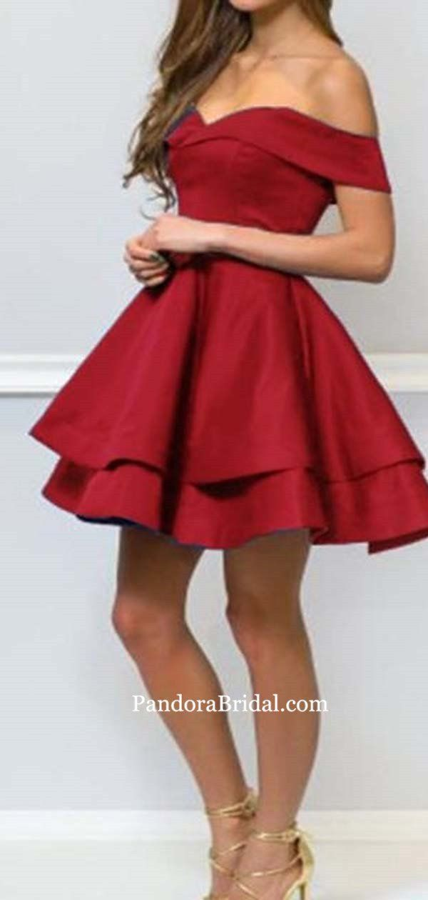 Charming Burgundy Off Shoulder Layered Short Homecoming Dresses, Homecoming Dresses, PD0604 - Homecoming dresses short, Trendy dresses summer, Homecoming dresses, Womens dresses, Short dresses, Trending dresses - Charming Burgundy Off Shoulder Layered Short Homecoming Dresses, Homecoming Dresses, PD0604 The Homecoming Dressesarefully lined,4 bones in the bodice, chest pad in the bust, lace up back or zipper back are all available, total 126 colors are available  This dress could be custom made, there are no extra cost to do