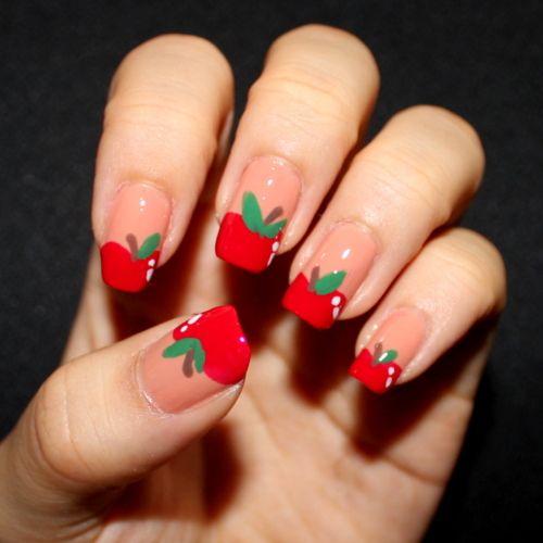 Apple Nail Art Nails Pinterest Apples Fruit Nail Designs And