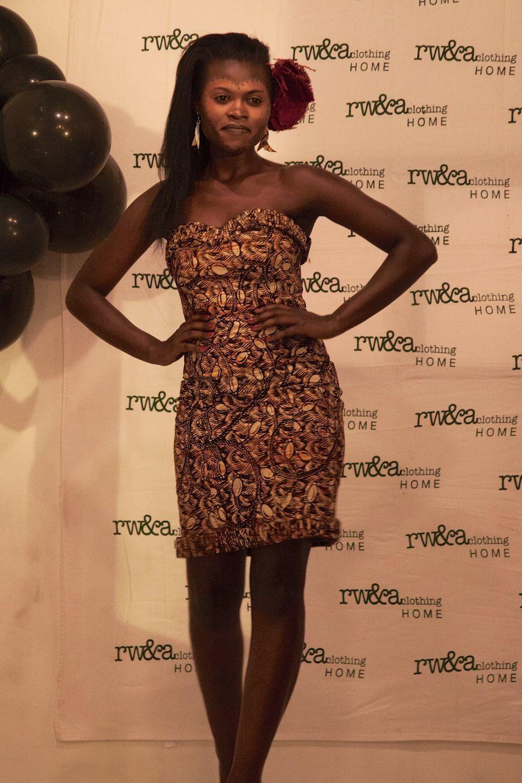 Model Rhosiane in RWANDA CLOTHING